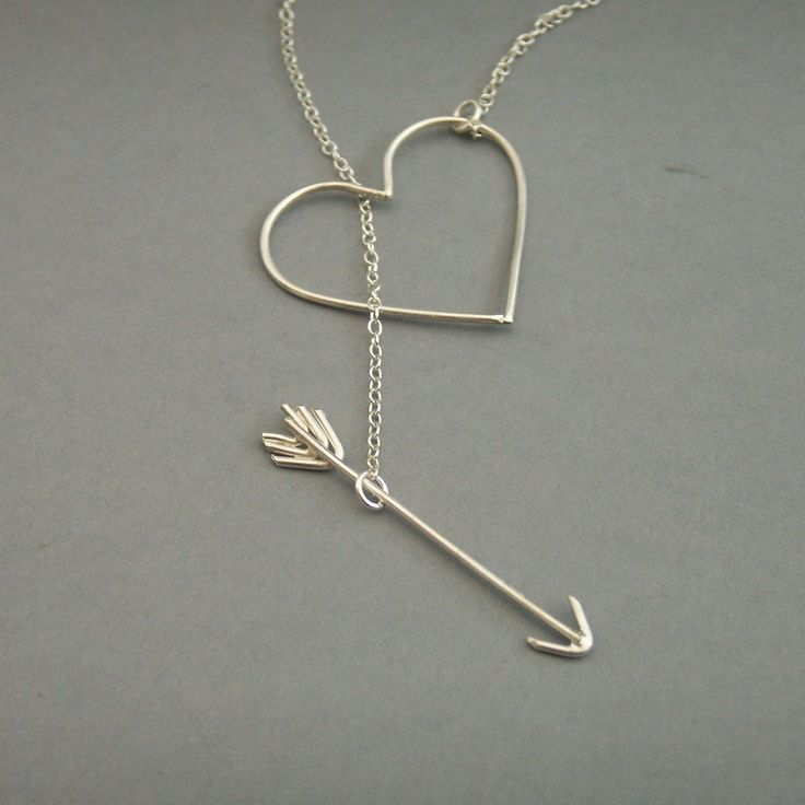 Heart and Arrow Necklace by bbel on Etsy, $55.00