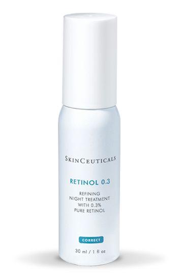 Corrective creams Retinol 0.3 | Skinceuticals - retinol serum to be used at night followed by moisturiser starting 2 times per week