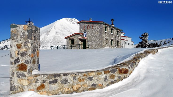 The mountain hut at Mount Dirfys, Evia island, Greece