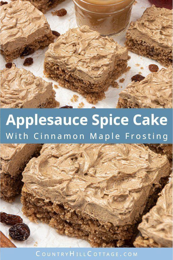 Vegan Applesauce Cake With Cinnamon Maple Frosting Gluten Free Paleo Recipe Vegan Applesauce Cake Recipe Applesauce Spice Cake Applesauce Cake