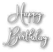 99641 Happy Birthday Friendship Script craft die
