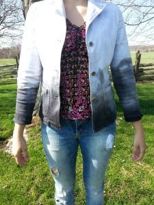 Dip-dye jacket