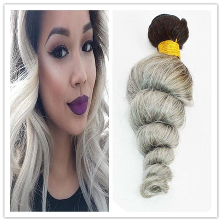 25 trending cheap human hair extensions ideas on pinterest 2016 new 8a dark root two tone loose wave virgin malaysian ombre silver grey human hair weaves hair extensions 300gbundle pmusecretfo Images