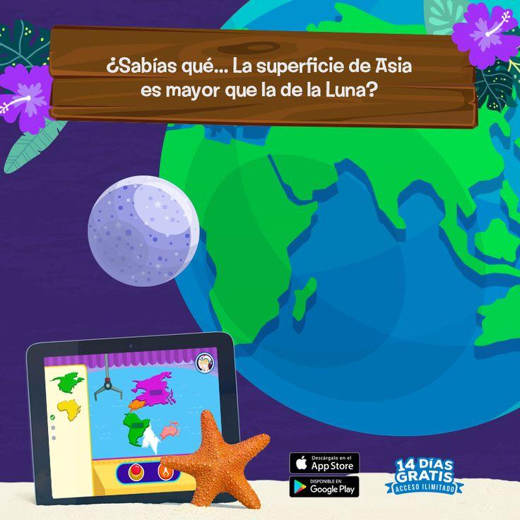 ¿A quién no le gustaría un boleto al espacio para ver Asia desde la Luna? A donde sea que vayas estas vacaciones empaca el aprendizaje y diviértete en verano con Yogome, 20 minutos bastarán para seguir aprendiendo. #YogomeSummer 📲http://yogo.me/gamebox-summer-and-es 📲http://yogo.me/gamebox-summer-ios-es  #geografia #verano #gratis #tierra #luna #espacio #divertido #aprendizaje #yogome