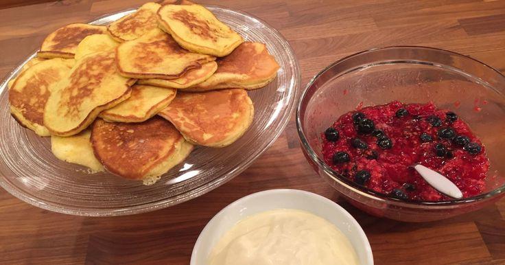 Wenche har tatt seg en velfortjent ferie. Bent Stiansen er stand-in, og serverer luftige og fantastiske pannekaker!