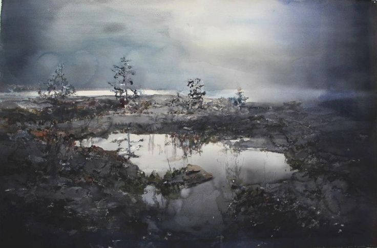 One of many stunning works by the Swedish painter Lars Lerin.