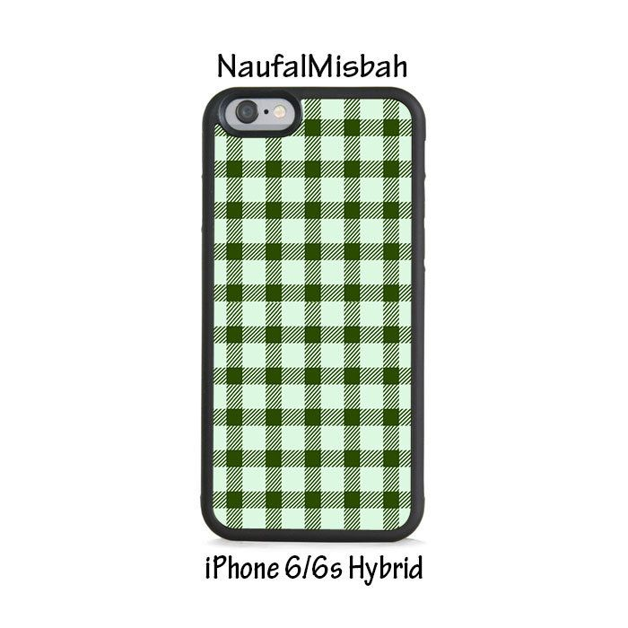 Green Plaid iPhone 6/6s HYBRID Case