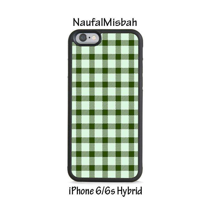 Green Plaid iPhone 6/6s HYBRID Case