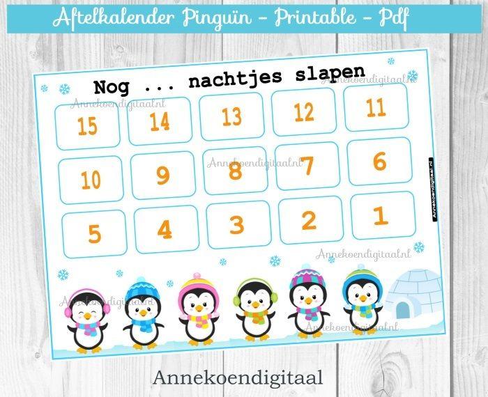 Aftelkalender Pinguïn