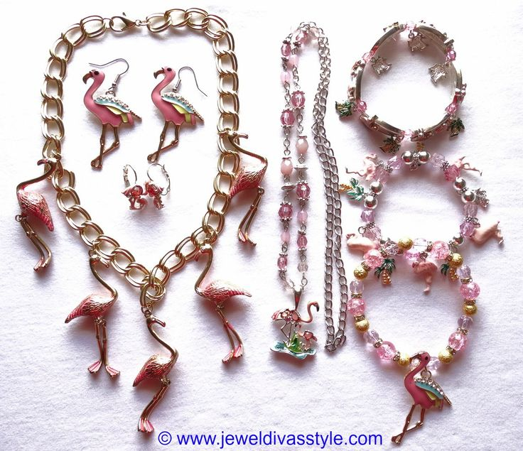 JDS - PINK FLAMINGO JEWELLERY SET - http://jeweldivasstyle.com/my-personal-collection-pink-jewellery-9/