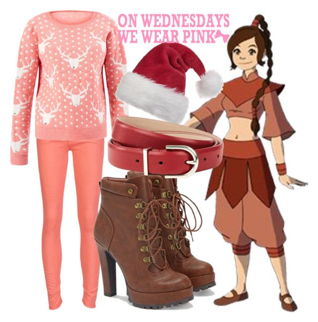 """""""Ty Lee - Christmas Sweater"""" by dutchveertje ❤ liked on Polyvore featuring Mother, JustFab and Hobbs"""
