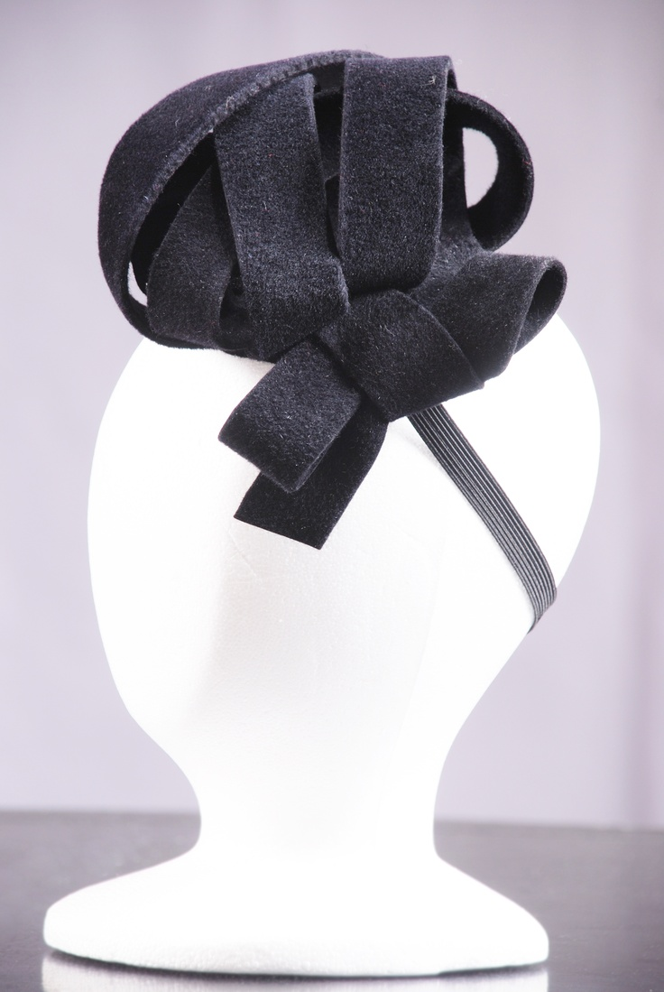Black Felt Bow Knot Fascinator