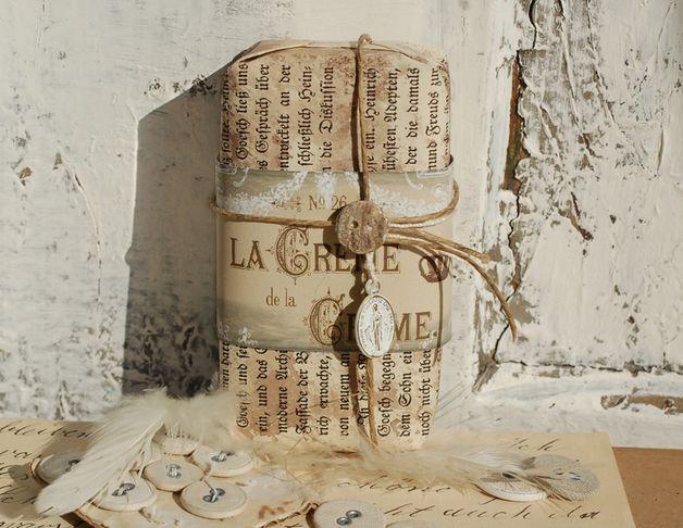 Seifen - Seife (pflanzlich) im Vintagelook - ein Designerstück von Lunas-VintageART bei DaWanda