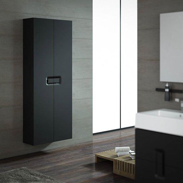 W łazience nie musi być biało - KOŁO TWINS to kolekcja pojemnych szafek,  zaprojektowanych z myślą o niebanalnej i funkcjonalnej przestrzeni #SanitecKOŁO #KOŁO #łazienka #inspiracje #łazienki #meble #wystrójwnętrz #wystrój #interior #furniture #minimal #designphoto #inspiration