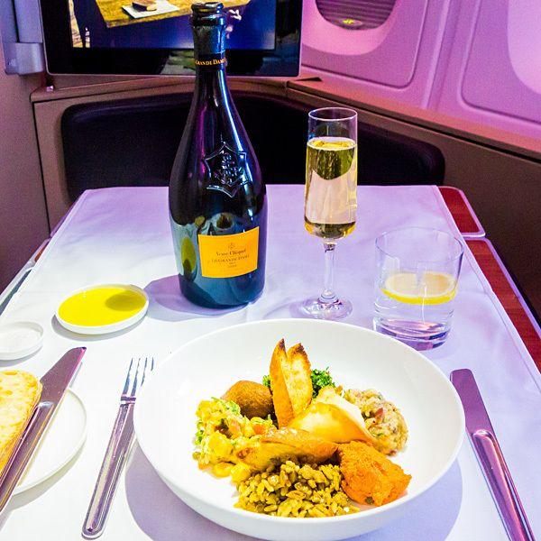 Qantas A380 First Class Dining