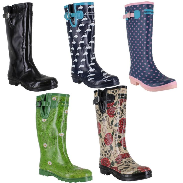 Wyre Valley Womens Pattern Animal Wellingtons Wellies Muck Boots. Get ready for festival season! Only £15.99  http://www.shoestationdirect.co.uk