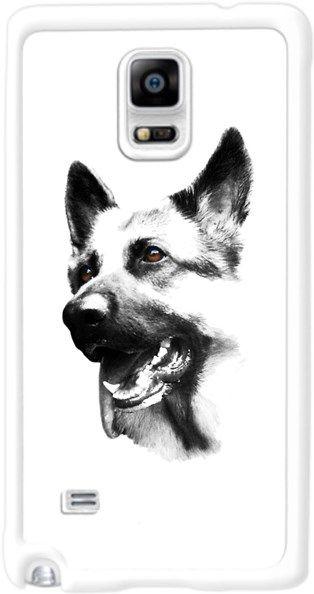 Köpekli - Alman Çoban Köpeği Kendin Tasarla - Samsung Note 4 Kılıfı