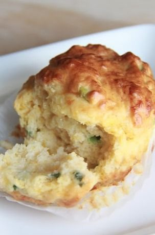 savory cheese and chive muffin