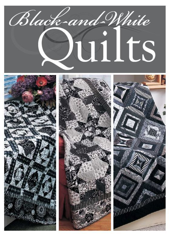 1000 Ideas About Black And White Quilts On Pinterest