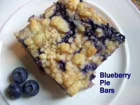 Flavors by Four: Blueberry Pie Bars