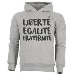 Sweat Capuche Bio Homme Organic Hoodie - Liberté Egalité Fraternité – ArteCita ECO Fashion