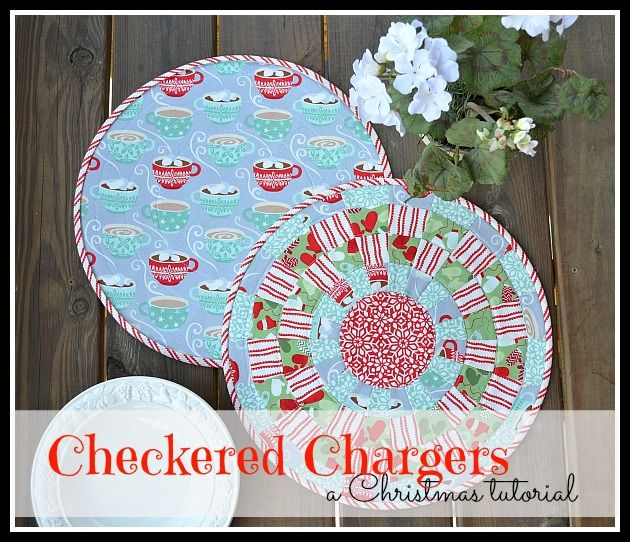 A Christmas Tutorial - Checkered Chargers