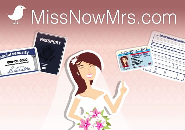 Name Change After Marriage || MissNowMrs.com YOU WILL WANT THIS!!! It saved me hours after the wedding trying to fill out forms and find mailing addresses. -B
