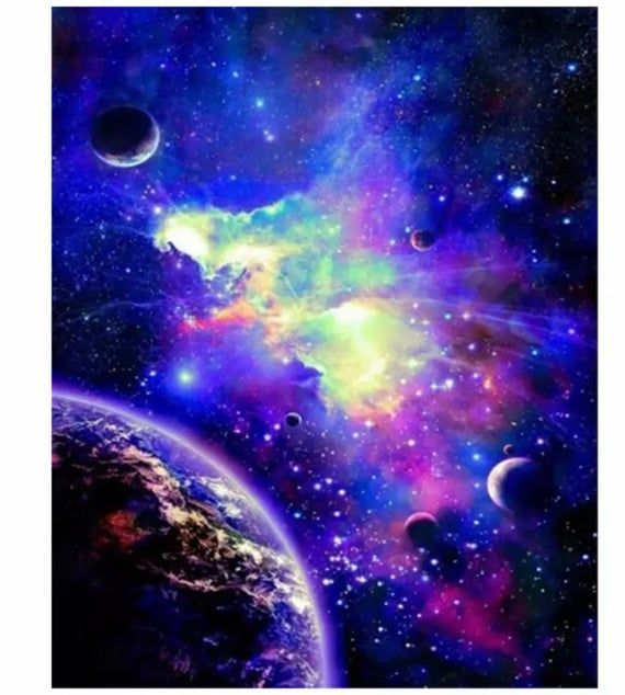 Us Seller 50x40cm Universe Space Planets Diy Diamond Painting Kit Full Drill Square Drills Fast S H In 2021 Space Pictures Outer Space Space Art