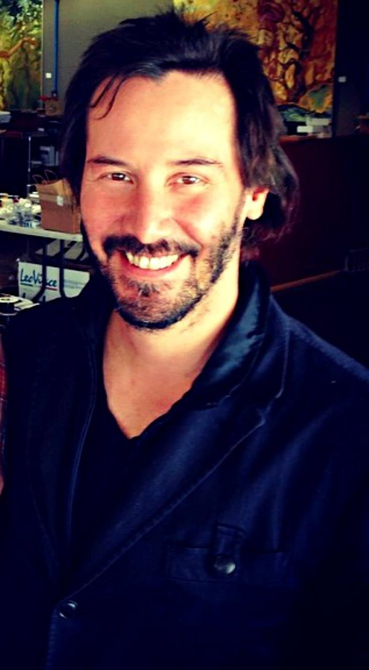 """angelofberlin2000: """" This picture was shared on Ode to Keanu Reeves with no further information. Seems that it was taken at the Arch Motorcycle Company's home in LA. Keanu's hair looks funny …. reminds me a bit of the 'haircut' he got in KnocK Knock..."""