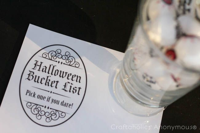 Halloween Bucket List I love bucket lists because they're great reminders of all the different ways to celebrate the season! I'm Vanessa Brady from Tried & True and I'm here to share my Halloween Bucket List tutorial and free printable. Th