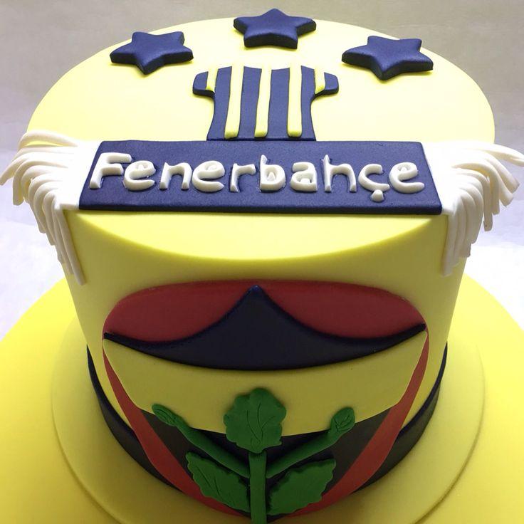 Football. Fenerbahçe pastası. Takım pastası. She Bee Cake&Cookie She Bee Pasta&Kurabiye
