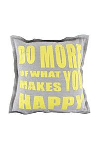 DO WHAT MAKES YOU HAPPY 55X55CM SCATTER CUSHION - R119.99 http://www.pinterest.com/mrphome/ www.mrphome.com/ #mrpyourhome