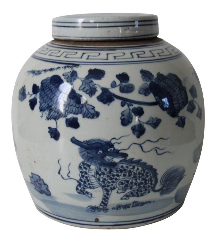 Chinese Foo Dog Ginger Jar on Chairish.com