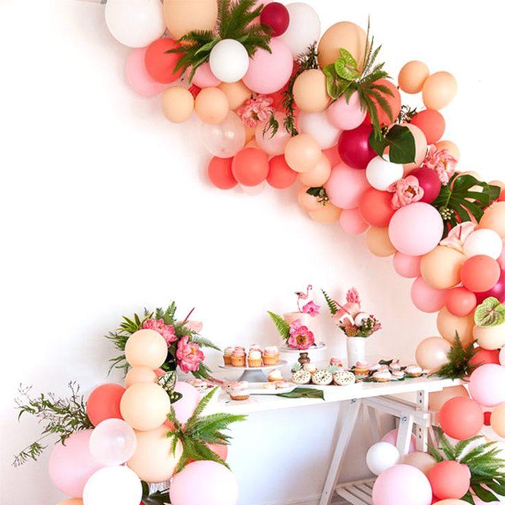 Blush Balloons 100 pcs 10 inch Blush Pink Balloons Coral Balloons Baby Pink Balloons Pastel Balloons Blush Party Decorations, Blush Wedding Decorations, Blush Pink Party Decorations