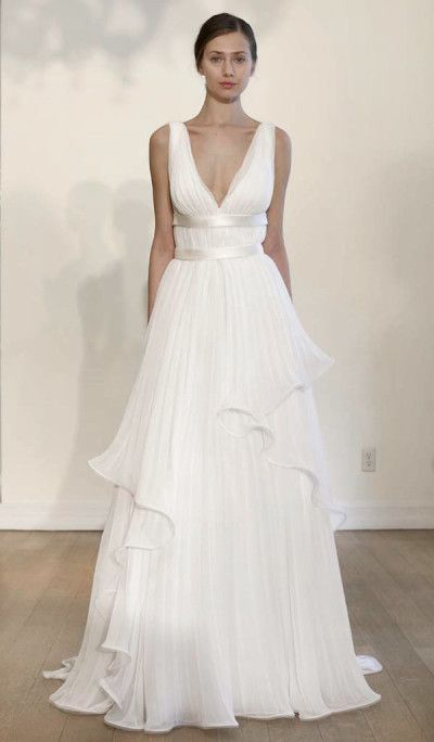 In Alberta Ferretti's second year designing a full wedding dress collection, she understands what a bride wants. View Alberta Ferretti's Spring 2015 Bridal