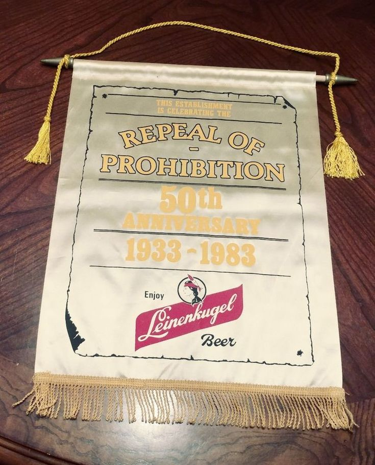 Rare Vintage 1983 leinenkugel beer satin screen tapestry repeal of prohibition #Leinenkugel
