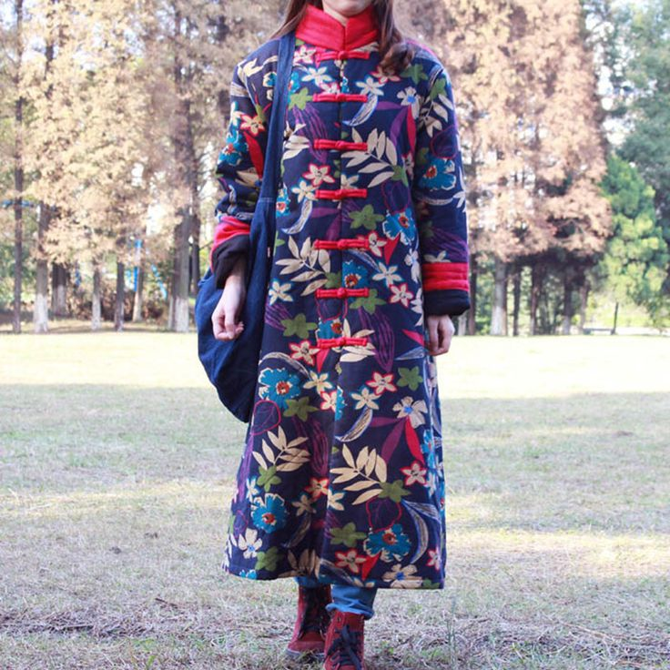 2015 New Arrival Fashion Spring Autumn Natural Cotton Linen Long Dress Coat  Single Breasted Plain Long Coat Chinese Vintage