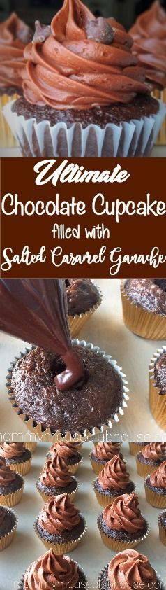 Triple Chocolate Salted Caramel Cupcakes are moist chocolate fudge cupcakes, stuffed with decadent salted caramel chocolate ganache and topped with creamy salted caramel chocolate buttercream frosting.