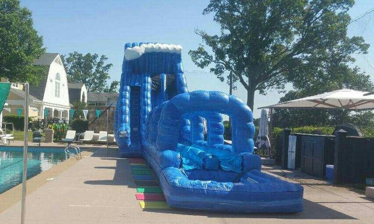 22ft blue crush inflatable waterslide rentals from astro