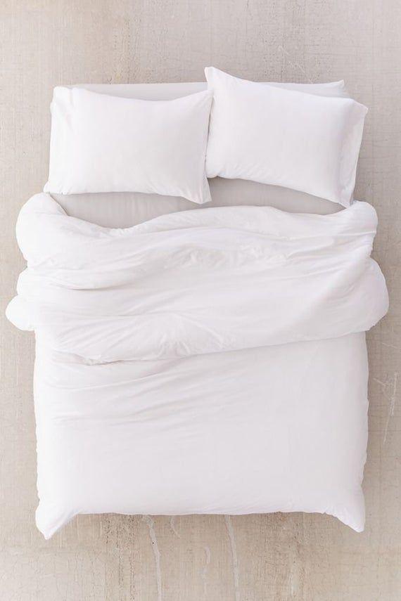 Washed Cotton Duvet Cover 5 Pc Set Bohemian Duvet Cover Set Etsy White Duvet Covers White Duvet Queen Bedding Sets