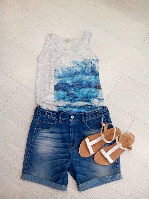 Salsa Jeans+Marikuchi forman un un look perfecto para la epoca estival