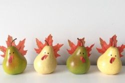 Thanksgiving Crafts Kids Will Love These Adorable Pear Turkeys