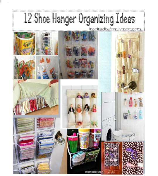 12 Organizing your home ideas using Pocket Shoe Hangers