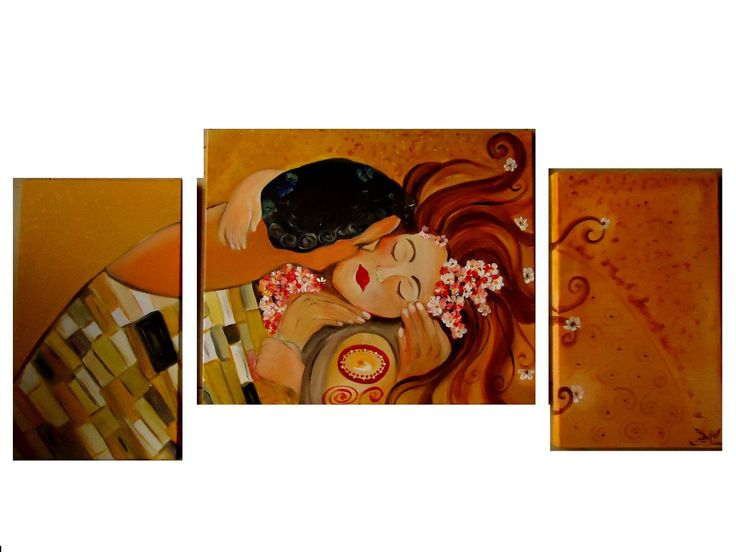 Cuadros Modernos Abstractos Tripticos - $ 690,00 en MercadoLibre