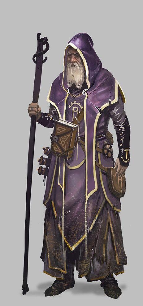 Old Wizard - Pathfinder PFRPG DND D&D d20 fantasy