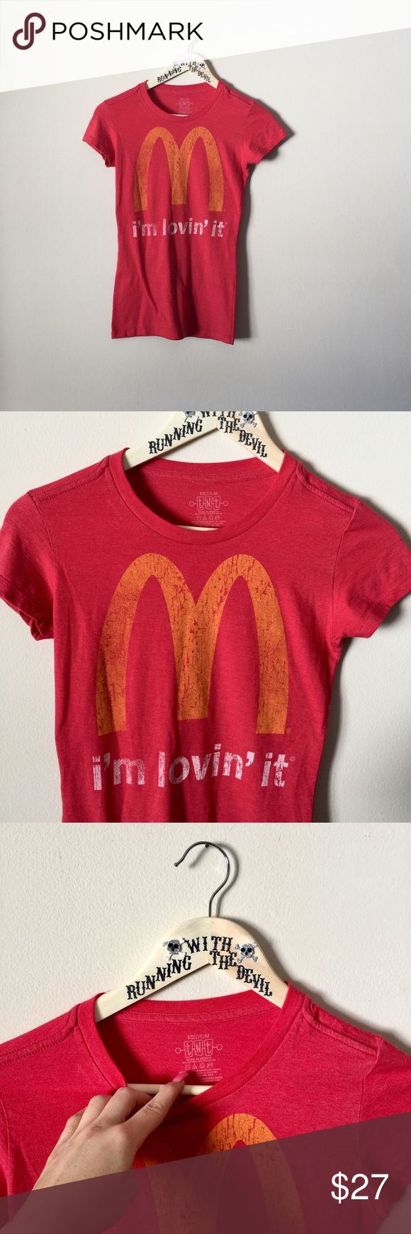 NWOT • VINTAGE • Classic McDonalds red small tee ♠️ VINTAGE • BRAND NEW WITHOUT TAGS! woman's red graphic tee with the official McDonalds logo. In excellent shape, never been worn. Cute and very retro! **Please  note that you are purchasing a USED/VINTAGE t-shirt. The more loved an item is, the better!** ♠️ SIZE • woman's medium   ☠️ BUNDLEtoSAVE ☠️ ACCEPTING OFFERS ☠️ 〰    #mcdonalds #logo #red #vintage #vtg #retro #throwback #graphictee #nwot #fastfood #comfortable #mickeydees Vintage Tops…