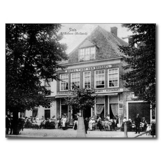 Vintage Sluis Holland Zeeland Hotel Restaurant postcards and posters