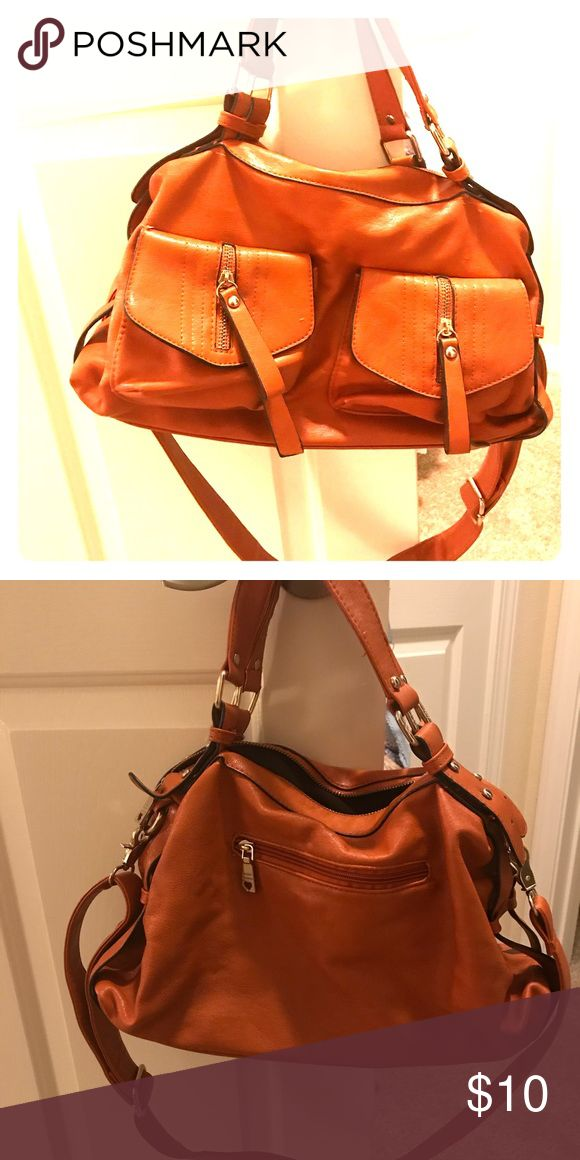 Cute orange shoulder bag Perfect condition I'm just clearing out my closet , this comes with a removable long strap Bags Shoulder Bags