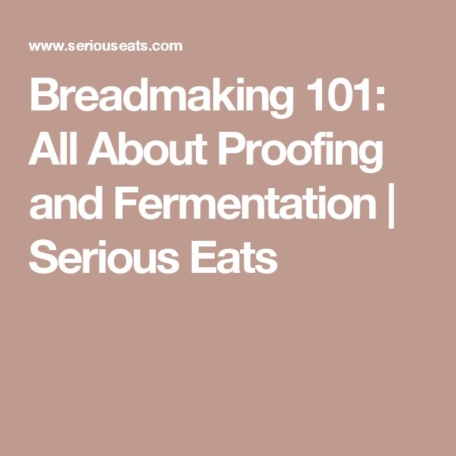 Breadmaking 101: All About Proofing and Fermentation | Serious Eats