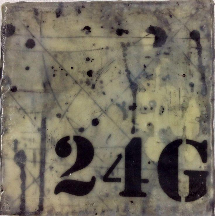 Encaustic artist, Brenda Walker '24G' is a more contemporary style piece